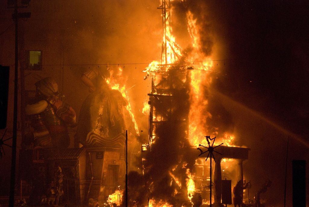 Las fallas Valencia Spain european traditions