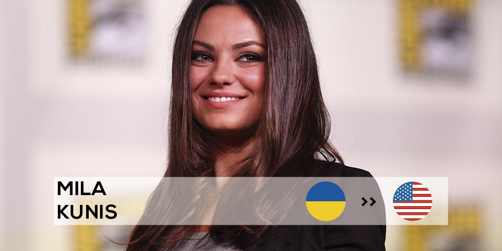 Mila Kunis moved with her family to live and work in the USA