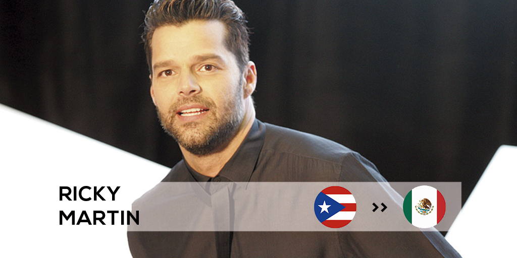 Ricky Martin found success in Mexico