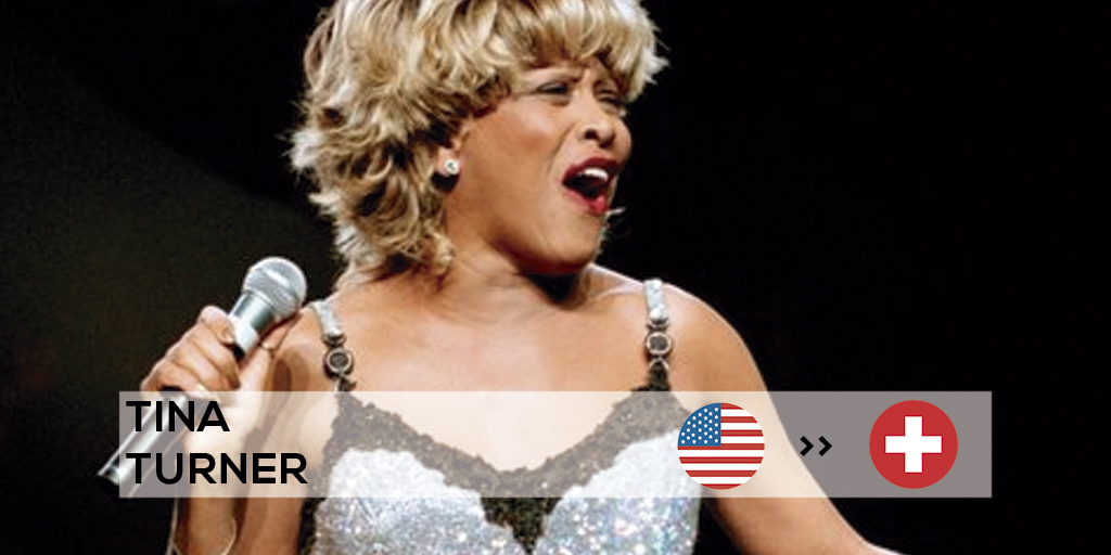 Tina Turner was a famous expat born in the USA