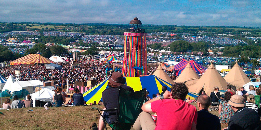 Glastonbury, one of the best summer festivals in Europe