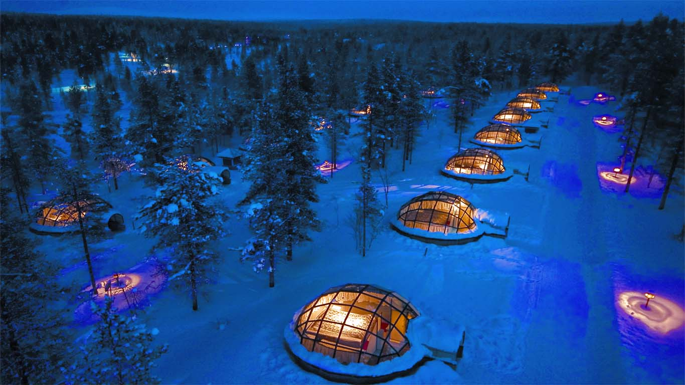Kakslaauuannen Artic Resort is everyone's dream come true for an exotic hotel.