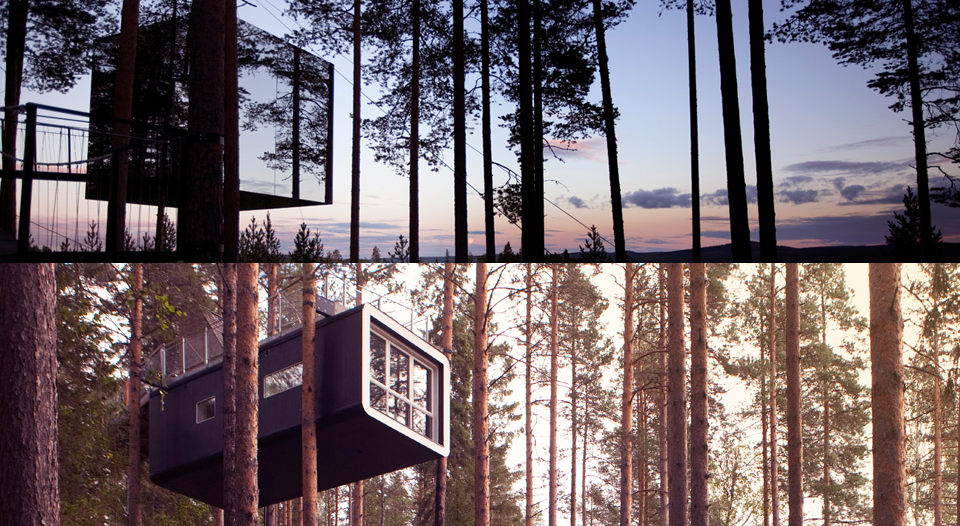 Treehotel in Harads are on of the most unique hotels in the world for their unique design.