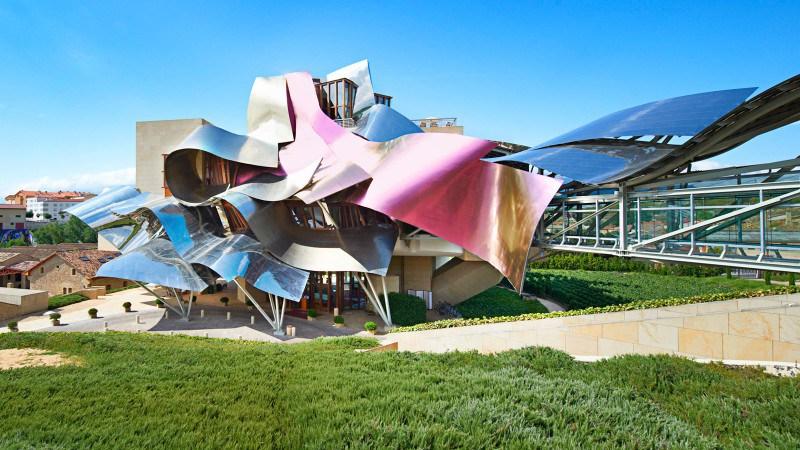 Spain has an extraordinary architectural avant- garde hotel, Marques de Riscal.