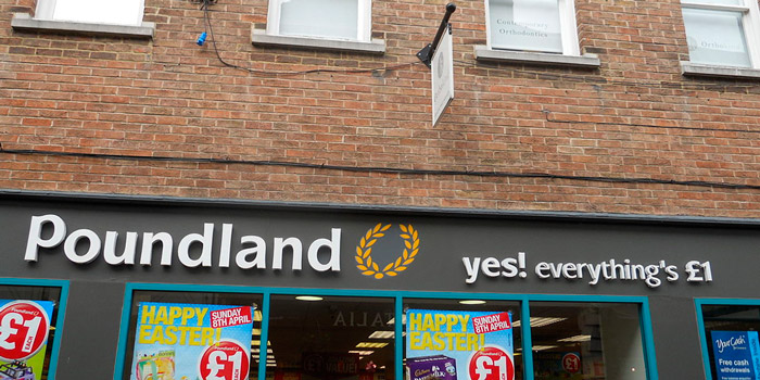In Poundland you can buy anything you want for one pound