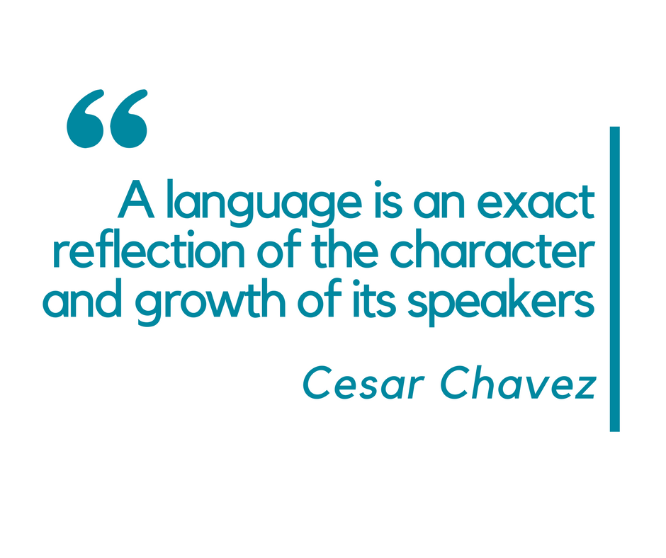 A language is an exact reflection of the character and growth of its speakers - inspirational language quotes
